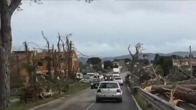 Një tornado e fuqishme godet qytetin Grosseto të Italisë
