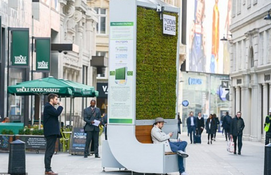 Londra pajiset me pemë nga myshku për pastrimin e ajrit
