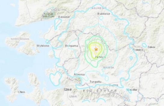 Një tërmet i fuqishëm me magnitudë 5.4 ballësh goditi Turqinë perëndimore