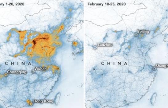 NASA publikon imazhe dramatike që koronavirus ka sjellë në Kinë