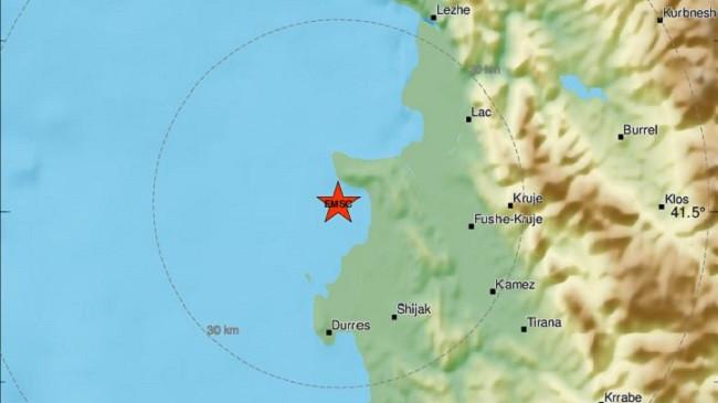 Tërmet në detin Adriatik