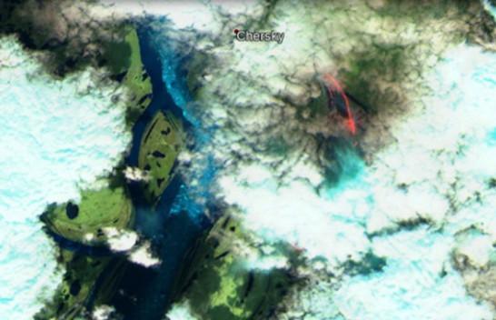 Zjarret në Siberi shihen nga satelitët