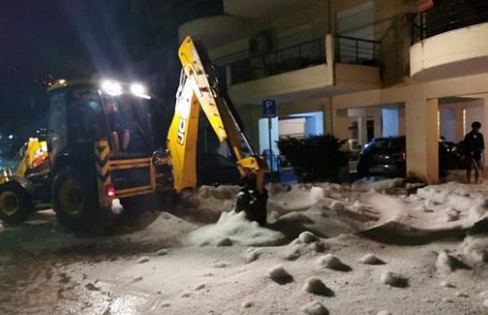 Stuhi breshëri në Greqi sikur të ishte dimër [Foto]