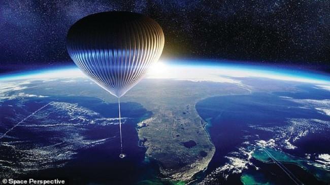 Udhëtim turistik në hapësirë me balonë