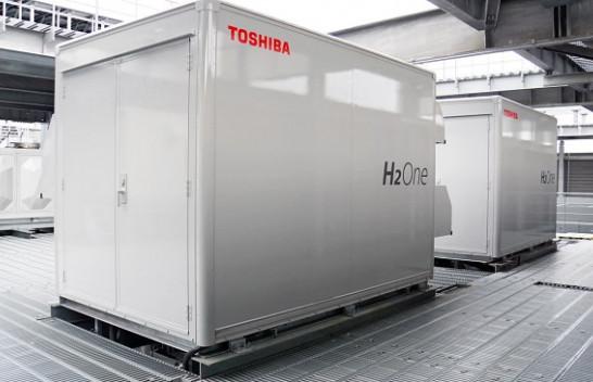 Qelizat e karburantit 1 megavat të Toshiba-s kanë lëng të mjaftueshëm për të furnizuar një fabrikë