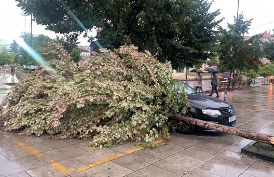 Prishtina goditet nga shiu dhe erërat e forta [Foto]